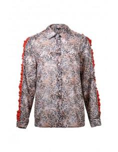 Denny Rose Camisa Animal Print