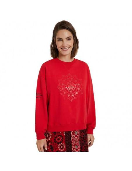 Sudadera Desigual Mandala Malaui roja